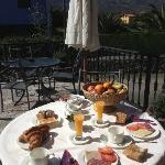 Brekfast at terrace