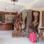 Hotel Kumal reception area/lobby, in Legian, Kuta, Bali, Indonesia.