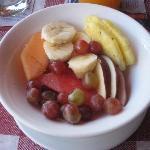 Entrada del desayuno
