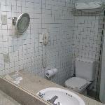 Banheiro com cortina plástica?