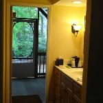 view from the room out back - loved the set up of the bathroom area also