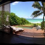 Our private deck by the beach..