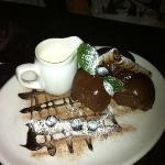 One of the amazinginly tasty deserts (profiteroles with cream)