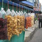 Street markets selling tapioca chips