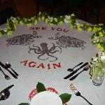 Table on last night