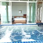View of the Jacuzzi and bedroom