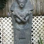 statue by garden