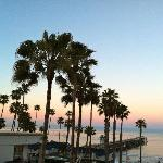 Sun rise from our deck of the San Clemente pier