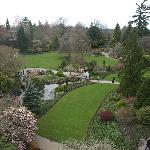 Overlooking the manicured quarry garden on a chilly April day--lots more bloom still to come