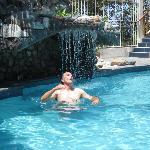 even my husband is enjoying the pool