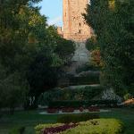 Este Castle garden view