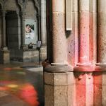 The light through the stained glass was magical