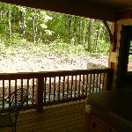 view from back porch and bedroom