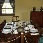 Tavern Dining Room in Surratt House.