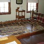 Rope bed in Guest Room of Surratt House.