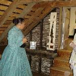 Attic Room in Surratt House when guns were stored in walls.