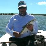 Me with my much smaller bonefish - Feb. 2012