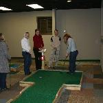 Group playing minigolf at Scenic City MiniGolf