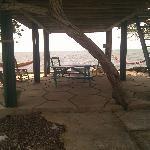 Under the cabana