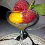 Mango, raspberry sharbat
