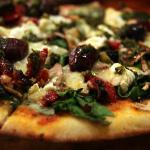 One of the delicious vegetarian pizzas.