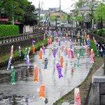 横山郷土館前の巴波川(うずまがわ)