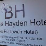 The hotel name