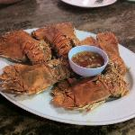 Deep Fried Flatted Lobster with Garlic