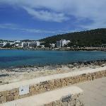 so called beach 2 mins walk away