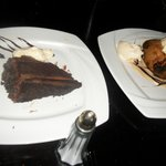 chocolate cake and apple dumpling w/ vanilla ice cream...we almost licked the plates!