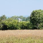 View of B&B from walking trail along Shenandoah River