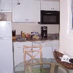 studio kitchen fully stocked