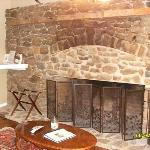 Wood Burning Fireplace in the Kerry Room