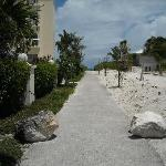 Paved walk to the beach