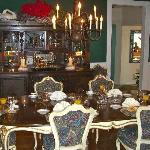 Lovely table setting for breakfast