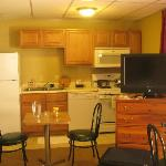 Room with attached kitchen