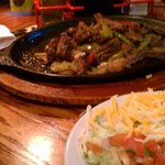 the meal, with the chilis menu in the back...