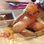 tempura prawns, perfect batter!
