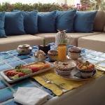 Breakfast on patio off room