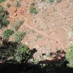 Looking down on the Watchman Trail