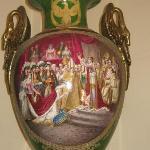 Jarrón alusivo a coronación de Napoleón