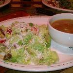 Mama Mandola's Sicilian Chicken Soup & Italian Salad