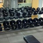 Dumbbell selection to 50 lbs, fine for most of us.  Great adjustable benches.