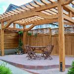 Pergola for guests to enjoy