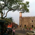 Palacio de Cortes seen from Zocalo park