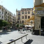 Nearby plaza