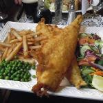 Criss/cross fish and chips at the Falgate Inn