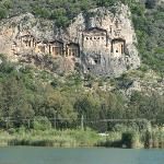 Dalyan village and these rocks tommbs are just 10 minutes from the hotel