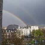doppio arcobaleno dalla camera dell'hotel.