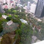 Vistas desde el piso 47 del Island Shangri La Hotel